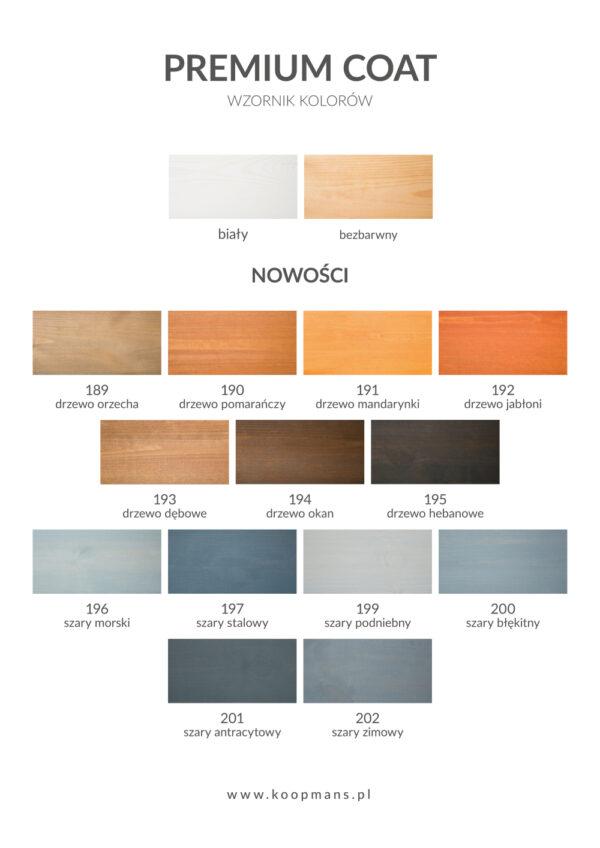 Wzornik kolorów Premium Coat