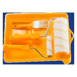 Zestaw akcesoriów do malowania pomarańczowy