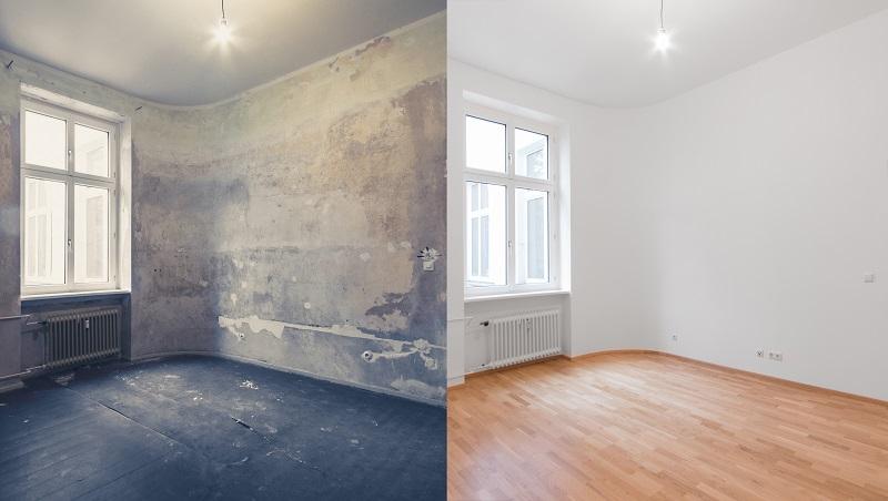 Pokój przed i po remoncie